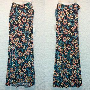 Lularoe Maxi Skirt, vintage floral, Large